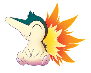 Patron Christmas Gift - Cyndaquil! by Petuniabubbles