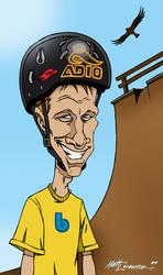 Tony Hawk caricature by mattlorentz