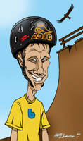 Tony Hawk caricature by mattlorentz