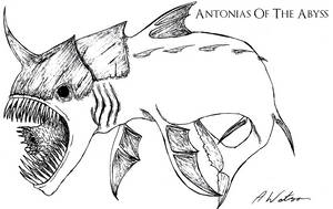 Styxian Ghoul Fish by AntoniasOfTheAbyss