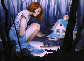 Through a Lone, Winding Road by mynameistran