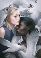 Miranda And Caliban by mynameistran