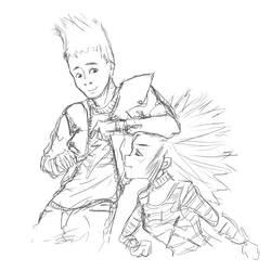 Johnny and Ash by EiyuMi