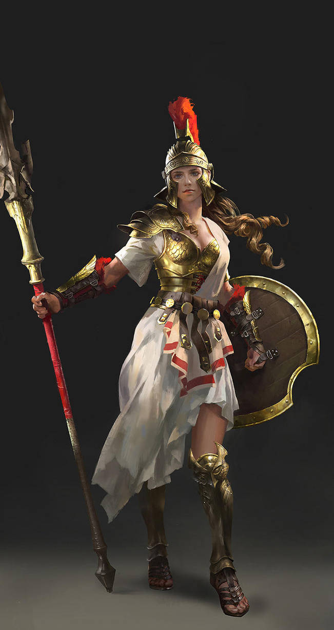 Character Design Athena by luulala