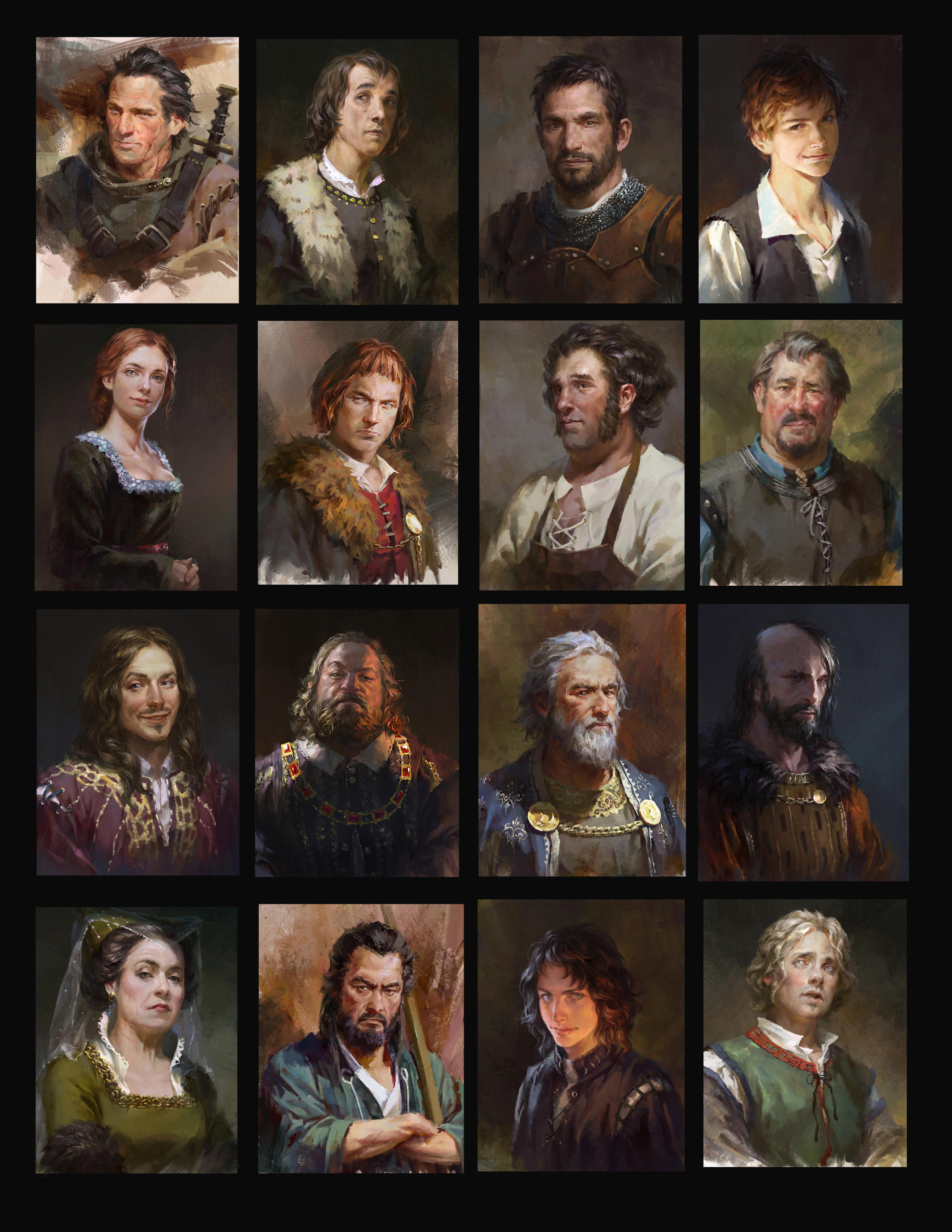 Portraits for Rival Knights by luulala
