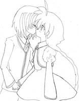 Toshiro and ahiru Kiss. FF by Akiko-Himura
