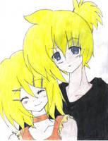 Kagamine Len y Rin by Akiko-Himura