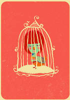 BIRD IN A CAGE by bloodykirka
