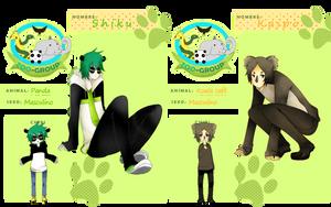 Z-G Panda and Koala by fanjo0