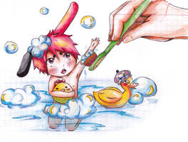 Bath time :3 by PolloWeillschmidt