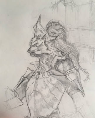 unfinished dragon slayer ornstein by mopdtk