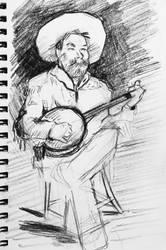 cowboy singing study by mopdtk
