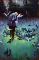 Feeding Birds: Twilight by rodluff
