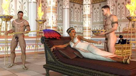 The queen teasing a slave by achillias-da
