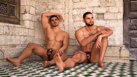 North African boys by achillias-da