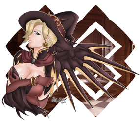 [Commission] Mercy Halloween (by Ukyodragoon) by hillerj