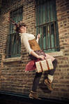 Alley way - Steampunk by TotallyToastyAri