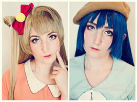 Kotori x Umi Makeup Test! by TotallyToastyAri