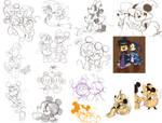 Mousey Sketchapalooza by cici-chi