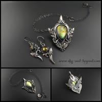 Harmony - pendant and earrings by rodicafrunze