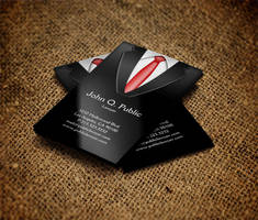 Black Suit Business Card by es32