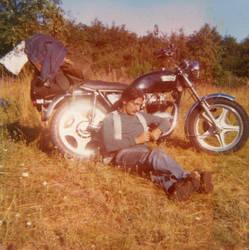 Triumph Bonnie by wolfharleyd