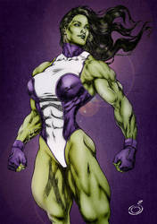 Imposing She-Hulk by areaorion