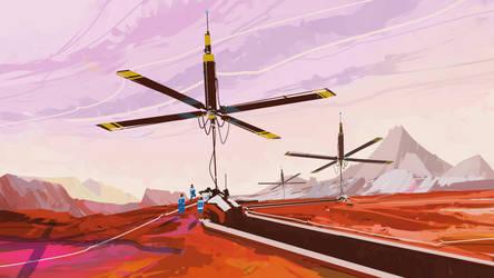 quick landscape 030614::life on Mars by cyberkolbasa