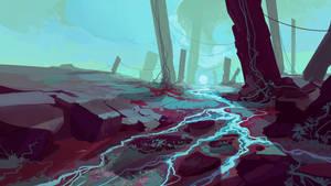 quick landscape: alien sunrise by cyberkolbasa
