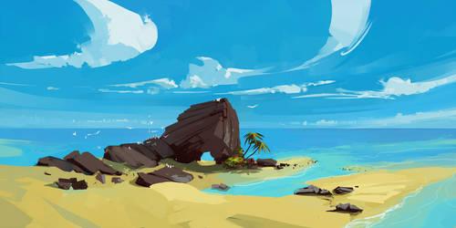 Beach by cyberkolbasa