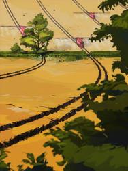 wheat field by cyberkolbasa
