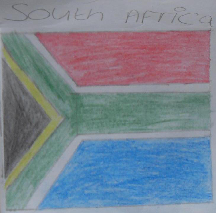 South Africa Flag drawing by blackroselover