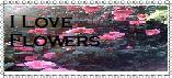 I Love flowers stamp by blackroselover