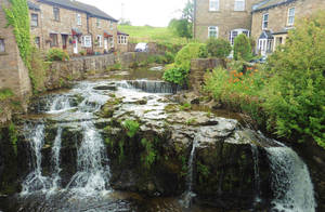 Village waterfall by ahappierlife