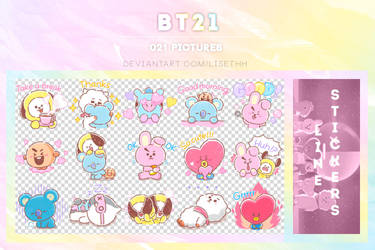 LINE STICKERS || BT21 |Sweet Talkers| by Lisethh
