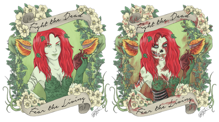 Zombified Poison Ivy by GakiRules