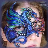Water Dragon Mask by Namingway