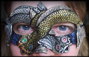 Silver and Gold Koi Mask by Namingway