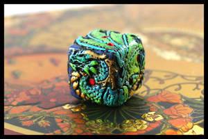 Custom Painted Dragon Die by Namingway