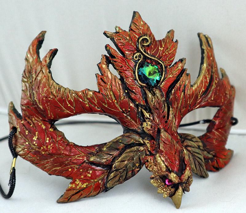 Autumn Leaf Phoenix Mask by Namingway