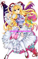 Yukari Yakumo:::Perfect Cherry Blossom by MoonlightAlchemist