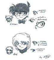 Conan and Ai's eyes by Hamlichan