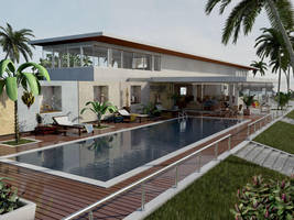 Maya 8 Mental Ray Villa Front. by withego