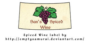 spiced wine label by emptysamurai