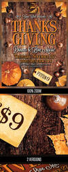 Thanksgiving Dinner and Party Poster by majkolthemez