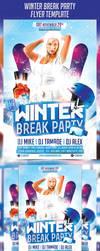 Winter Break Party Flyer Template by majkolthemez