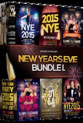 New Year Flyer Bundle Vol.1 by majkolthemez