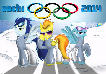 The Wonderbolts at the winter games! by Spitshy