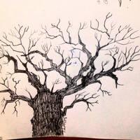 Inktober 2016 #11 - Tree by TinyNerdGirl