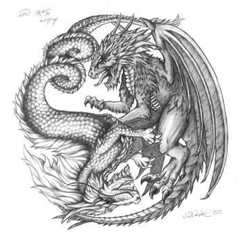 Yin-Yang Dragons by RiehlART
